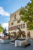 Stadshus i Vaduz Arkivfoto