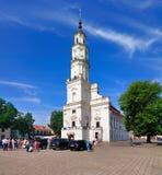 stadshus kaunas lithuania Royaltyfri Fotografi