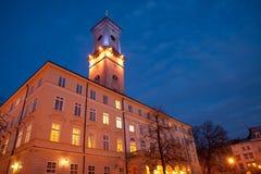 stadshus lviv Royaltyfria Foton