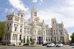Stadshus Madrid Arkivfoton