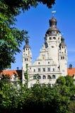 stadshus nya leipzig Royaltyfria Bilder