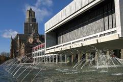 Stadshus- och för St. Eusebius kyrka, Arnhem Arkivbilder