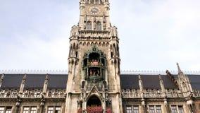 Stadshus på Marienplatz i Munich, Tyskland lager videofilmer