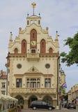 Stadshus på marknadsfyrkant i Rzeszow, Polen Arkivfoton