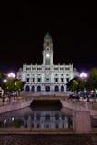 stadshus porto portugal Royaltyfri Foto
