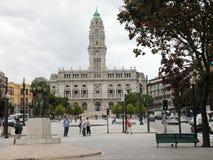 stadshus porto portugal Royaltyfria Bilder