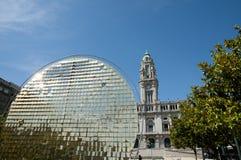 Stadshus - Porto - Portugal Arkivbilder