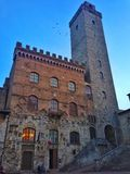 Stadshus San Gimignano royaltyfria foton