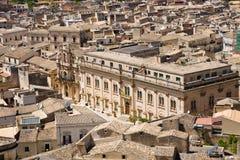 Stadshus Scicli, Sicilien Royaltyfria Bilder