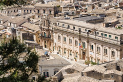 Stadshus Scicli, Sicilien Fotografering för Bildbyråer