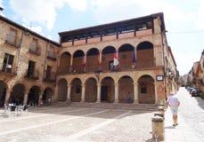 Stadshus Siguenza, Spanien Royaltyfri Bild