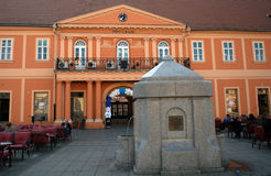 Stadshus Sombor, Serbien Royaltyfri Foto