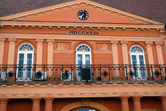 Stadshus Sombor, Serbien Arkivfoton