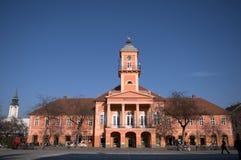 Stadshus Sombor, Serbien Arkivbild