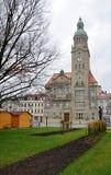 Stadshus stad av Prostejov, Tjeckien, Europa Royaltyfri Bild