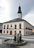 Stadshus stad Jesenik, Tjeckien, Europa Arkivbild