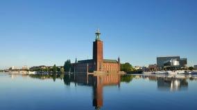 stadshus stockholm stock video