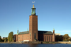 stadshus stockholm Arkivbild