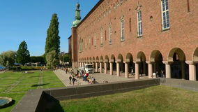 stadshus stockholm sweden lager videofilmer
