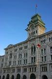 stadshus trieste Arkivbild