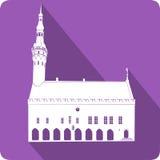 Stadshus vektorillustration Royaltyfri Bild