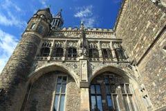 Stadshusdetalj i Aachen Royaltyfria Foton
