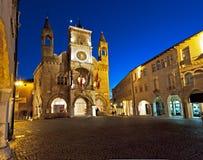 Stadshuset av den Pordenone staden, i Italien Arkivbilder