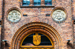 Stadshuset av Elsinore eller Helsingor - Danmark Royaltyfria Foton