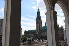 Stadshuset av Hamburg i Tyskland, Europa Royaltyfri Fotografi