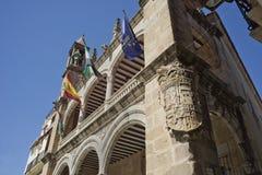 Stadshuset av Plasencia, Caceres spain Royaltyfri Fotografi