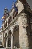 Stadshuset av Plasencia, Caceres spain Arkivbilder