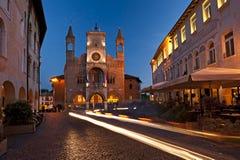 Stadshuset av Pordenone, Italien, symbolet av staden Royaltyfri Foto