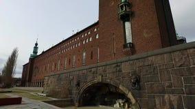 Stadshuset/câmara municipal, Suécia de Éstocolmo vídeos de arquivo