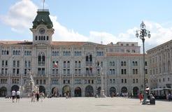 Stadshuset, historisk byggnad på piazzadellUnita D Italia Royaltyfria Foton