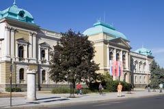 Stadshuset i den Krusevac staden i Serbien royaltyfri bild