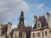 Stadshuset i Paris, Frankrike Royaltyfria Bilder