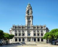 Stadshuset i Porto, Portugal Royaltyfria Bilder