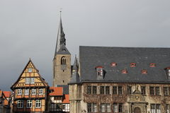 Stadshuset i Quedlinburg Royaltyfri Fotografi