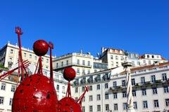 Stadshusfyrkant, Lisbon, Portugal Arkivfoton