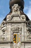 stadshusleipzig skulptur Arkivbild