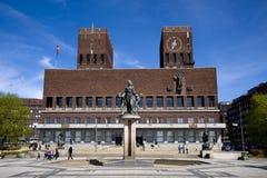 stadshusoslo town Royaltyfri Bild