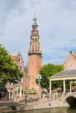 Stadshustorn i Leiden, Nederländerna Royaltyfri Fotografi
