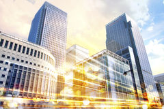 Stadsillustratie met verkeerslichten, Londen Royalty-vrije Stock Afbeelding