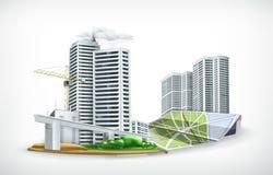 Stadsillustration stock illustrationer