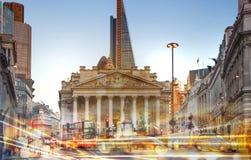 Stadsillustration med trafikljus, London Arkivbild