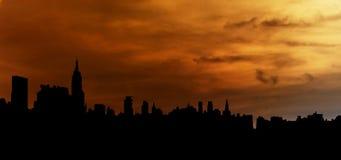 stadsillustrationhorisont Arkivfoto