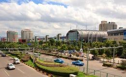 stadsinternationell handel yiwu Arkivbilder