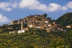 stadsitaly tuscany vellano Arkivbilder