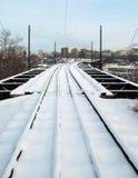 stadsjärnväg till Fotografering för Bildbyråer