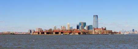 stadsjersey manhattan ny horisont york Royaltyfri Foto